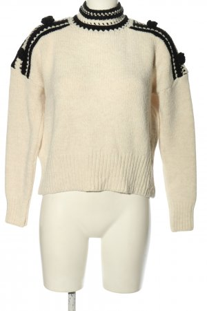 Reserved Knitted Sweater natural white-black casual look