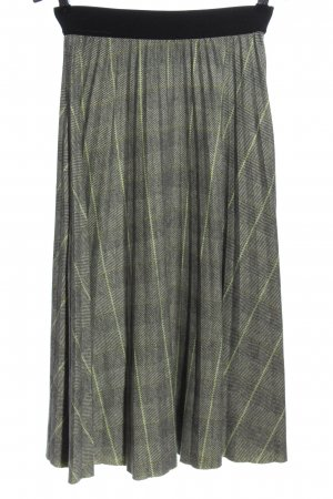 Reserved Knitted Skirt light grey-green check pattern casual look