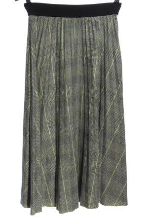Reserved Falda de punto gris claro-verde estampado a cuadros look casual
