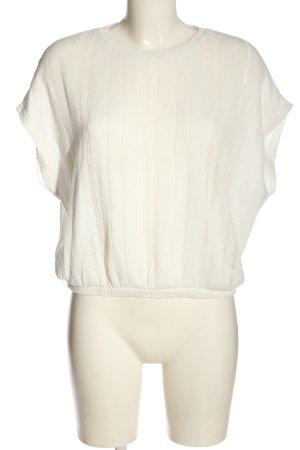 Reserved Strickshirt wollweiß Casual-Look