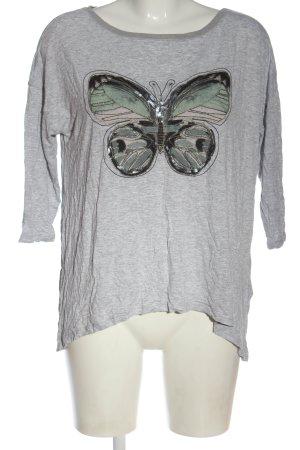 Reserved Strickshirt hellgrau-grün meliert Casual-Look