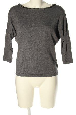 Reserved Strickshirt hellgrau meliert Casual-Look