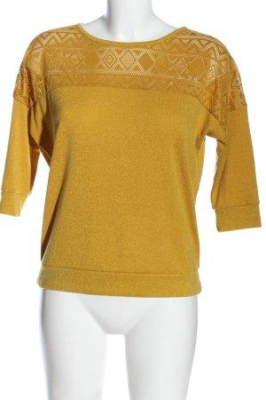 Reserved Strickshirt blassgelb Casual-Look