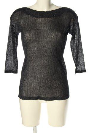 Reserved Strickshirt schwarz Casual-Look