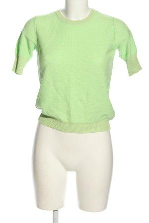 Reserved Strickshirt grün Casual-Look