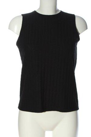 Reserved Gebreide top zwart casual uitstraling