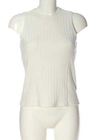 Reserved Gebreide top wit gestreept patroon casual uitstraling