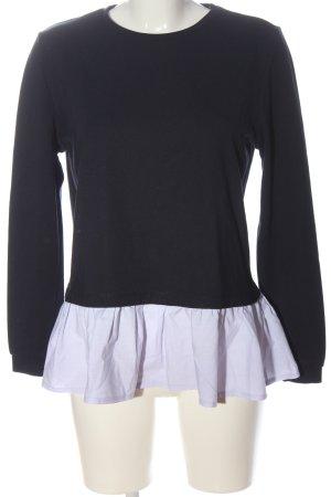 Reserved Sweatshirt schwarz-weiß Casual-Look