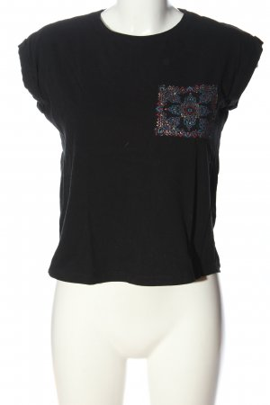 Reserved T-Shirt schwarz abstraktes Muster Casual-Look