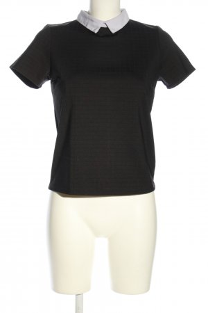 Reserved T-Shirt schwarz Karomuster Business-Look