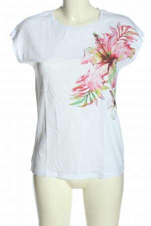 Reserved T-Shirt weiß-pink Blumenmuster Casual-Look