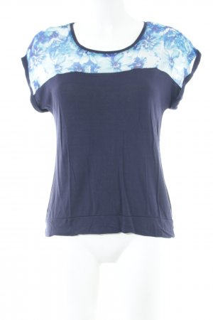 Reserved T-Shirt Blumenmuster Casual-Look