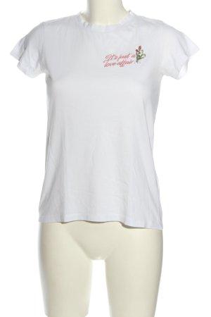 Reserved T-Shirt weiß Schriftzug gestickt Casual-Look