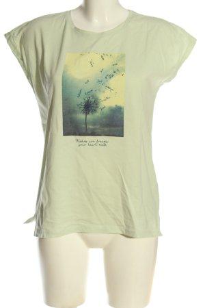 Reserved T-Shirt grün Motivdruck Casual-Look