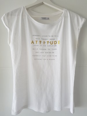RESERVED T-Shirt, mit Aufdruck/Spruch, Gr.M schwarz, weiß, gold