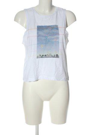 Reserved Tanktop wit prints met een thema casual uitstraling