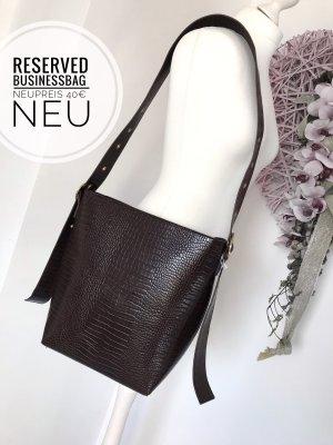 Reserved Tasche Umhängetasche budinessbag bag croko braun Accessoires