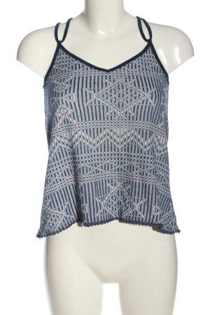 Reserved Trägertop blau-weiß abstraktes Muster Casual-Look