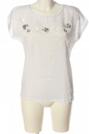 Reserved T-Shirt white flower pattern casual look