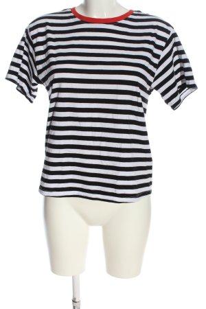Reserved U-Boot-Shirt schwarz-weiß Streifenmuster Casual-Look