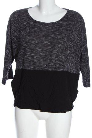 Reserved U-Boot-Shirt hellgrau-schwarz meliert Casual-Look