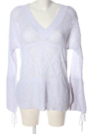 Reserved V-Ausschnitt-Pullover weiß Casual-Look