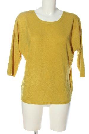 Reserved V-Ausschnitt-Pullover blassgelb Casual-Look