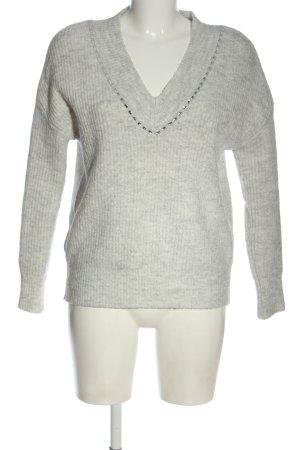 Reserved V-Ausschnitt-Pullover hellgrau Casual-Look