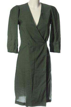 Reserved Kopertowa sukienka khaki Melanżowy W stylu casual