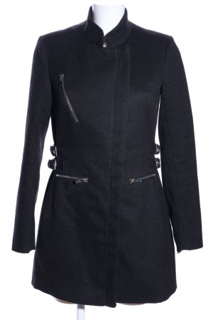 Reserved Winter Coat black flecked casual look