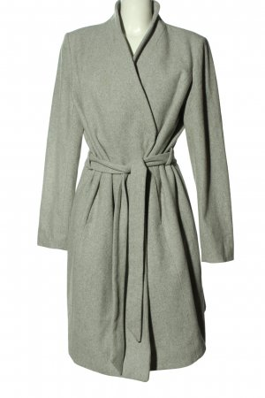 Reserved Wool Coat light grey flecked casual look