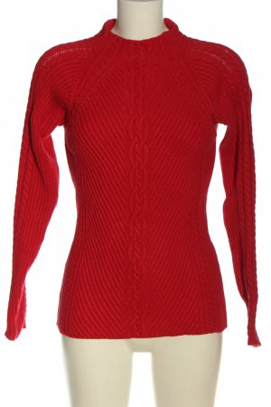 Reserved Zopfpullover rot Casual-Look