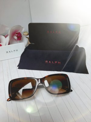 Reserviert! Orginal Ralph Lauren Sonnenbrille, braun/gold, Logo Design, Neuwertig!