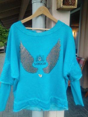 Arlette Kaballo Sweatshirt bleu azur-turquoise tissu mixte