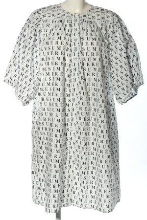 RÉSUMÉ Abito blusa camicia bianco-nero stampa integrale stile casual