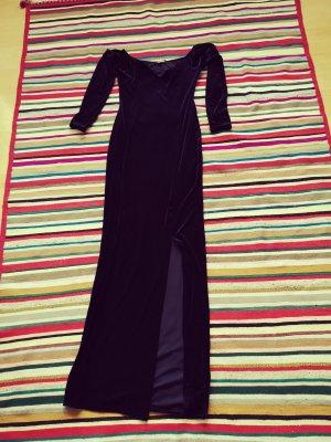 Retro Abendkleid Dunkel Lila