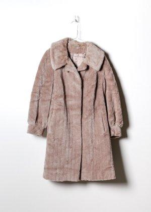 Retro Damen Fake Fur Mantel in L