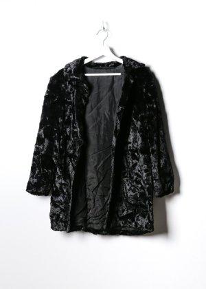 Retro Fake Fur Mantel in L