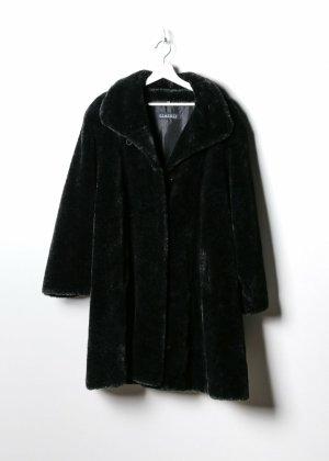 Retro Fake Fur Mantel in XL
