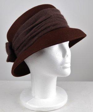 Cartoon Cloche Hat dark brown wool