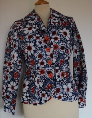 Retro - Hippie Flower-Power Jacke im Twiggy-Style 38