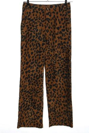 Retro & Icone Spodnie Marlena brązowy-czarny Na całej powierzchni