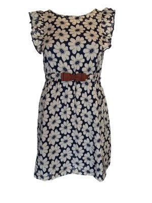 Yumi Sukienka mini niebieski-biały