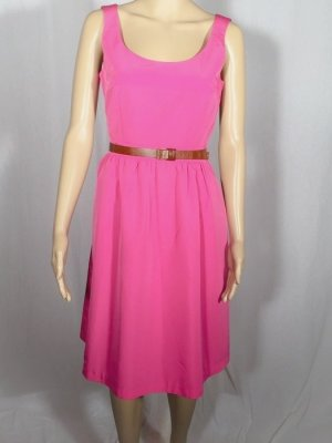 H&M Vestido con enagua rosa-rosa
