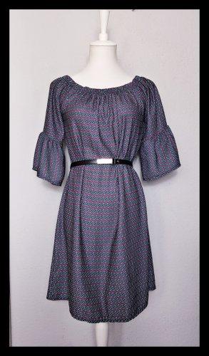Retro Kleid weit geschnitten, Glockenärmel, gemustert, Schwangerschaft