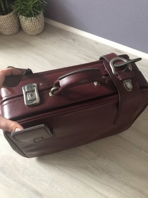 Suitcase brown red