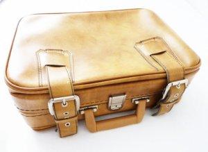 Valise multicolore faux cuir