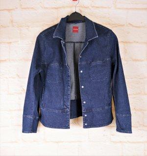 Retro Kurzjacke Jeansjacke Olsen Größe M 38 Blau Dunkelblau Jeans Denim Blazer Übergangsjacke
