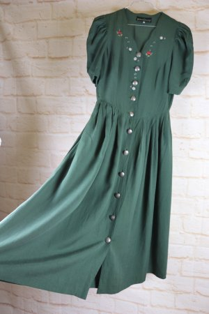 Berwin & Wolff Maxi Dress dark green mixture fibre
