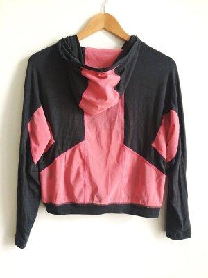 Retro- Meschoberteil aus den 90ies von Nike in Grau- Rosalachsfarben